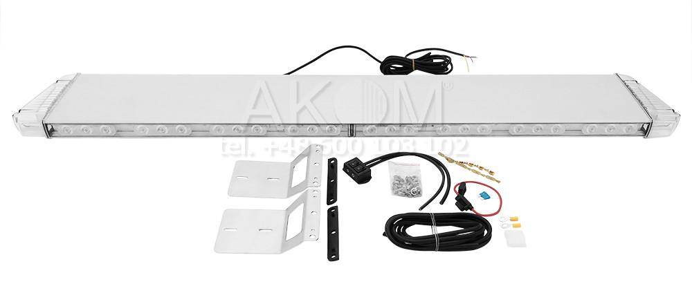 Belka / Listwa / Lampa ostrzegawcza LED PREMIUM FULL LED 1210 mm, 12/24V, pomarańczowa, R65/R10